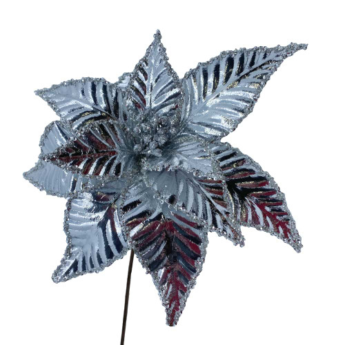 Poinsettia Silver Metallic