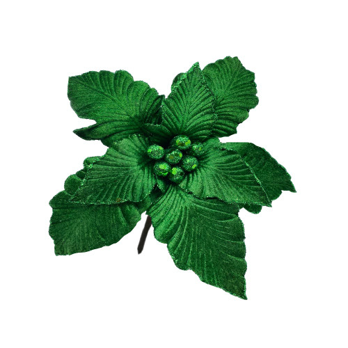 Poinsettia Green With Clip
