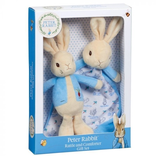 Peter Rabbit Gift Set Rattle And Comfort Blanket