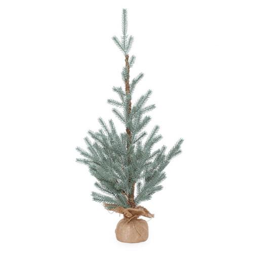 Aspen Blue Pine Burlap Real Touch Blue