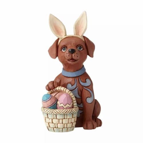 Jim Shore Dog With Bunny Ears By Heartwood Creek
