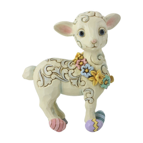 Jim Shore Pint Sized Lamb With Easter Eggs
