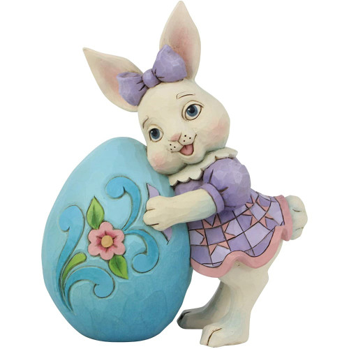Jim Shore Pint Sized Girl Bunny With Easter Egg