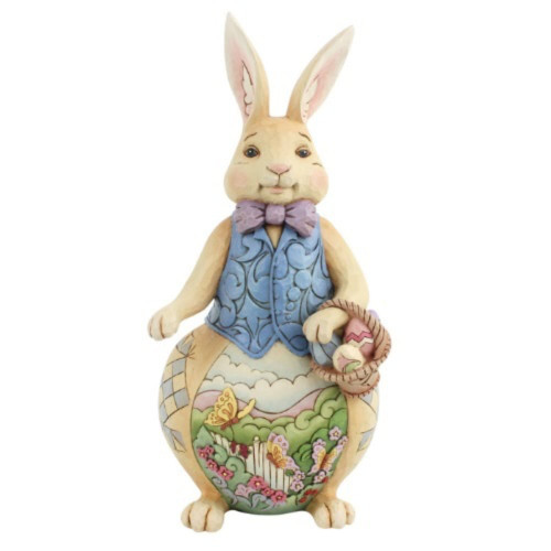 Jim Shore Easter Bunny With Scene