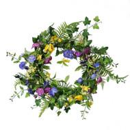 Pansies Wreath