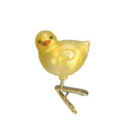 Yellow Baby Chick Glass Ornament