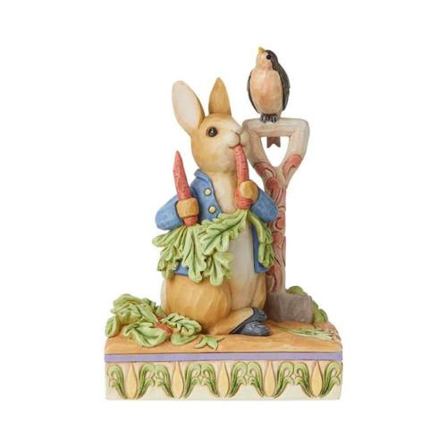 Jim Shore Peter Rabbit Eating Radishes