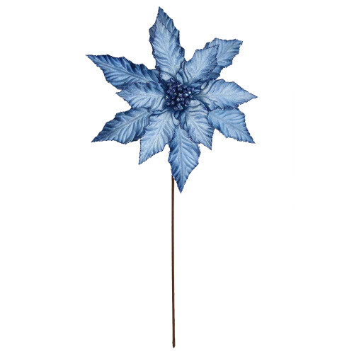 Blue Poinsettia With Stem