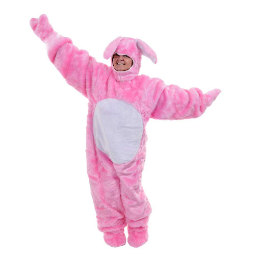 Pink Bunny Suit With Hood