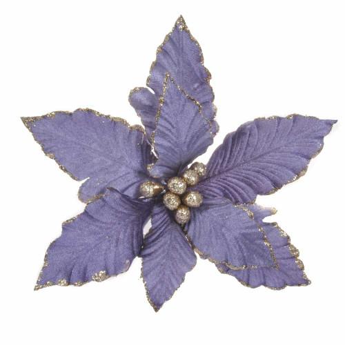 Purple Poinsettia with Clip