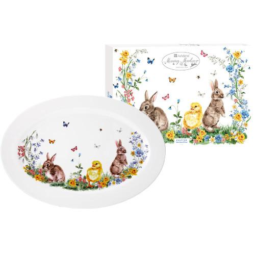 White Morning Meadows Platter