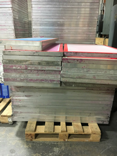 Used aluminum screens for screen printing