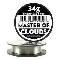 50 ft - 34 Gauge AWG A1 Kanthal Round Wire