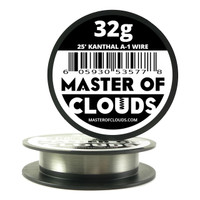 25 ft - 32 Gauge AWG A1 Kanthal Round Wire