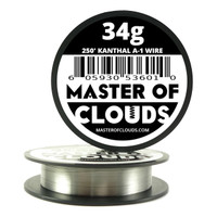250 ft - 34 Gauge AWG A1 Kanthal Round Wire