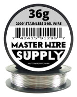 2000' Stainless Steel 316L Wire 36g-40g