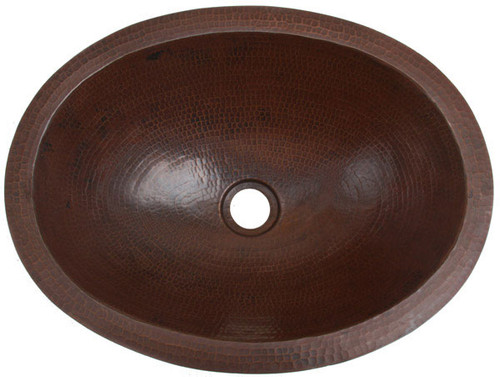 """17"""" copper oval sink"""
