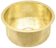Bar Sink (DBV-BRASS) Drum Style Brass Sinks-3 sizes in Brass