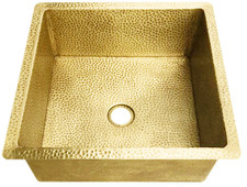Bar Sink (SBVA-BRASS) Square Brass Bar Kitchen Prep Sink