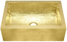 "Brass Farmhouse Sink (FHA-BRASS) Sinks-Single Bowls (33"" Base Price)"