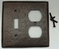 Sale Copper Switch Plate Cover (LSC330) 2 Gang Double Switch Cover-Standard Plug Outlet + Standard Toggle
