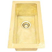 Bar Sink (RTBVA-BRASS) Rectangle Brass Bar Kitchen Prep Sinks-3 sizes