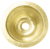Bar Sink (RBV10-BRASS) Mini Round Hammered Brass Bar Sink