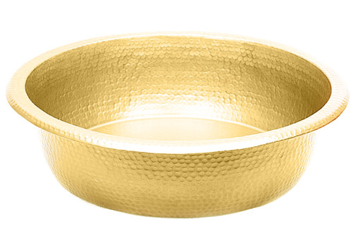 Hammered Brass pedicure bowl