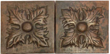 Copper Tile Leaf Designs Set of 2