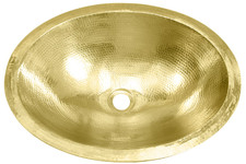 Bath Sink (BO19-BRASS) Bath Brass Oval Sink