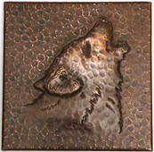 Copper Tile (TL219) Coyote Design 6x6