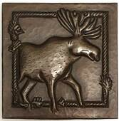 Copper Tile (TL954) Moose Design 6x6