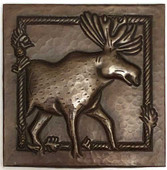 Copper Tile (TL954) Moose Design 6x6