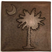 Copper Tile (TL980) Moon & Palm Design 6x6
