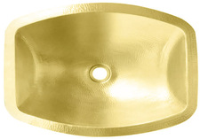 Brass Bath Sink (BOF17-BRASS) Flat Sided Bath Brass Sink