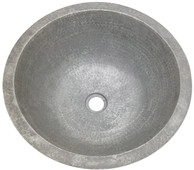 Bath Sink (BR17-A) Large Round Aluminum Sink