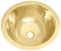 Bath Sink (BR15-BRASS) Large Round Brass Sink