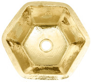 Bar Sink (HBV16-BRASS) Hexagon Brass Bar Prep Sink