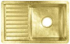 Brass Sink (DB-SBV24-BRASS) Sink-Single Bowl w/Drainboard