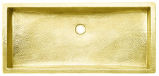 Trough Bath Sink (TR30X14) Brass Trough