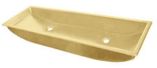 Trough Bath Sink (TR48-DBL-BRASS) Brass Trough