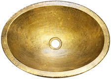 1-(BO19-WBR) New Bath Brass Oval Sink