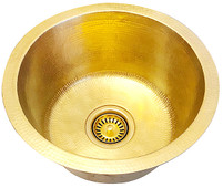 1-(RBV16-MB) Round Brass Bar/Prep Sink
