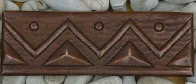 "TL006-2""x 6"" Triangle Design copper tile liner"