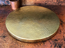 "Lazy Susan Hammered Brass 15"" Matte Brass"