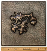 Copper Tile (TL341-6x6) Acorn Design