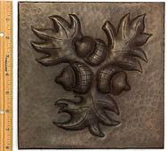 Copper Tile (TL300-8x8) Acorn Design