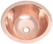 Bath Sink (BR15-SHY) Round Shiny Copper Sink