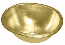 Bar Sink (BOD19-BRASS) Deep Bar Brass Oval Sink