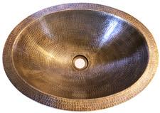Bath Sink (BO17-Rustic Brass) New Bath Brass Oval Sink